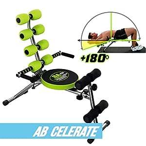 Gymform Ab Celerate Abdominal Training Equipment, Black