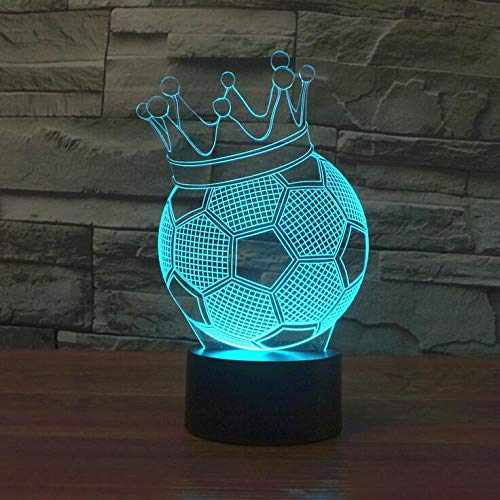 Fútbol 3D Novedad Light Seven Color Change Vision