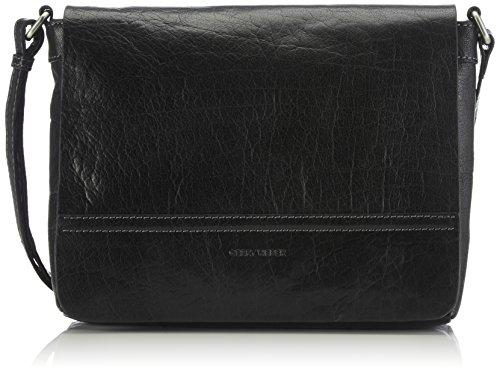 Gerry Weber Damen Lugano Flap Bag Umhängetaschen, Schwarz (black 900), 29x22x7 cm