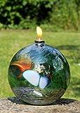 D&J Glassware Lampada a Olio Friendship Ametista Verde