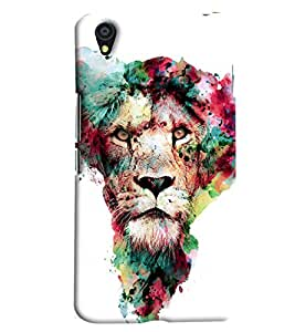 Blue Throat Lion In Colors Hard Plastic Printed Back Cover/Case For OnePlus X