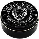 B.I.G. Beard Balm - Bálsamo 1% orgánico premium para barbas, bigote, y Perilla. Con cera de abejas, manteca de karité, vitamina E, aceite de argán, aceite de jojoba, aceite de vainilla y aceite de semilla de uva.