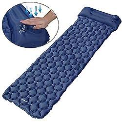 EZILIF Isomatte Kompressionsdesign Camping Schlafmatte Outdoor Aufblasbar Isomatten Ultraleicht Luftmatratzen für Camping, Reise, Wandern, Schwimmbad