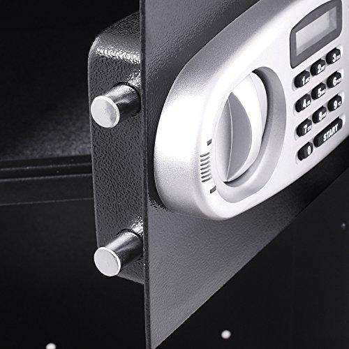 VEVOR Elektronischer Safe Tresor Doppeltüren Sicherheitsschrank 3MM Stahltür Möbeltresor Elektronikschloss Tresore für Geld Schmuck Waffen - 6