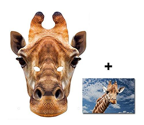 Karte Partei Gesichtsmasken (Maske) Enthält 6X4 (15X10Cm) starfoto (Giraffe Latex Maske)