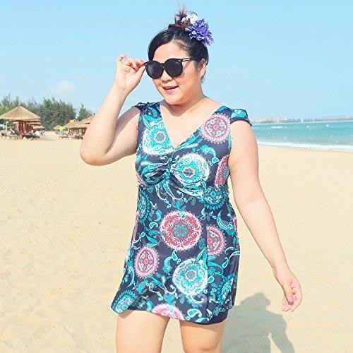 XL-übergewichtige Menschen kleiden einteilige Bikini-Badeanzug 6XL Farbe 2