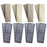 8 x Compatible Foam and 8 x Compatible Polycarbon Carbon Filter Cartridges to fit Fluval U3 Internal Filter