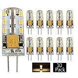 Pocketman 10 Pack 2 Watt AC/DC 12V G4 LED Lichtbirnen,Entspricht 20W Halogen Spurbirne,3000k Warmes Weiß