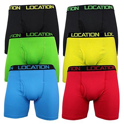 Location Herren Boxershort Mehrfarbig Multi Mehrfarbig - Jock Polyamide Fabric (6 Pack)