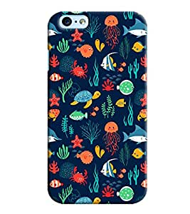 Blue Throat Under Water Animal Life Printed Back Cover For Apple iPhone 6