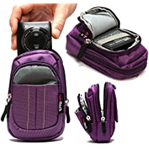 Navitech Borsa Case Viola per Camera Digital Canon PowerShot N2