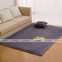 Salón rectangular mesa de café alfombras de felpa blanca m dormitorio cama cama y moqueta completa sobre la alfombrilla casa ,40*120cm, gris