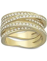 Swarovski Spiral anillo, oro