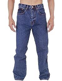 Aztec Jeans Bleu Jeans Coupe Standard Entre Jambe: 73.7cm - Bleu délavé, Ceinture 107cm - longueur 74cm