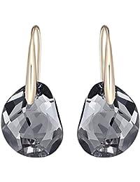 Swarovski Damen-Ohrhänger Vergoldet Kristall grau Tropfenschliff - 5165033
