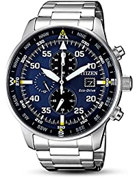 Citizen Men's CA0690-88L Silver Stainless-Steel Eco-Drive Fashion Watch
