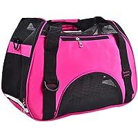 LvRao Hundetragetasche, Hunderucksack, Haustiertragetasche, Handtasche, Transporttasche Tragbar für Haustiere, Hunde, Katze (Rose, S: 40*20*30cm)