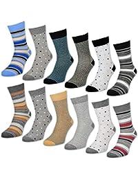 6 oder 12 Paar Damensocken Baumwolle Ringel & Punkte Damen Socken mit Muster - 34959 - sockenkauf24