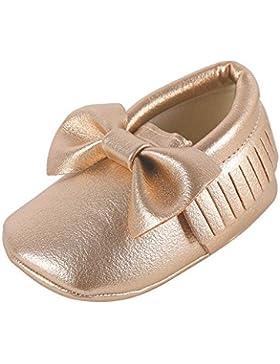 weixinbuy bebé niños niñas suave soled borla Bowknots Cuna zapatos PU Moccasins