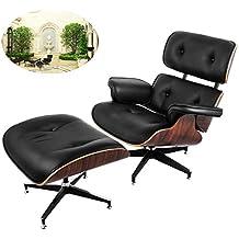 AuBergewohnlich Ultraselect Lounge Stuhl Und Fußlehne Im Set, 7 Lagiges Walnuss Furnier,
