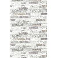 Erismann Brix - Papel de pared de vinilo en gris efecto pared de ladrillos en relieve con textura 6703-10