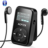 AGPTEK Bluetooth 4.0 8GB MP3 Player mit Clip, Sport HiFi Musik Player, FM-Radio, Sprachaufnahme, mit Silikonhülle und Armband, unterstützt bis zu 128 GB, Schwarz A26TB