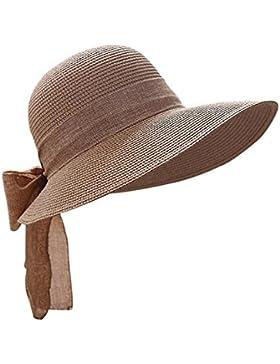 TININNA Donne Pieghevole Elegante Bowknot Protezione del sole spiaggia Cappello da sole di moda Cappello mare...