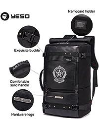 Yeso Gym New Travel Large Capacity Men'S Backpack Bags Multifunctional Black Bagpack Waterproof For Men - Black