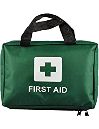 Ezy-Aid 99pcs Supreme First Aid Kit Bag - Inc. Eye Wash, Crepe, Ice Pack, Thermal Blanket - Home, Office, Vehicle, Workplace, Travel, Camping