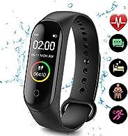ZHISIDA Fitness Tracker, Activity Tracker Watch con cardiofrequenzimetro, Cinturino Smart Fitness Impermeabile IP68 con conta