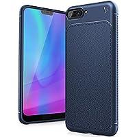 Huawei Honor 10 Funda, FindaGift TPU Suave Ultra Delgado [Inastillable][A prueba de choques][Protección completa] Bumper A prueba de huellas Back Cover con base antideslizante para Honor 10 (Azul oscuro)