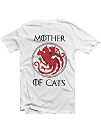 Amazon.es: camiseta gato - Blanco: Ropa
