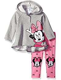 Disney Baby Girls 2-Piece Minnie Mouse Hooded Pullover with Legging Set