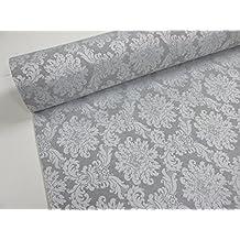 Confección Saymi - Metraje 0,50 mts. tejido Jacquard Ref. Versalles, color Plata, con ancho 2,80 mts.