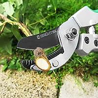 GRÜNTEK Sécateur à enclume TOUCAN 195mm avec lame en acier japonais SK5, avec poignées Soft-touch.