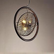 E27 Hängelampe Kronleuchter Im Käfig Eisen Lampenschirm Mit Fassung  Beleuchtung Deckenventilator Stil
