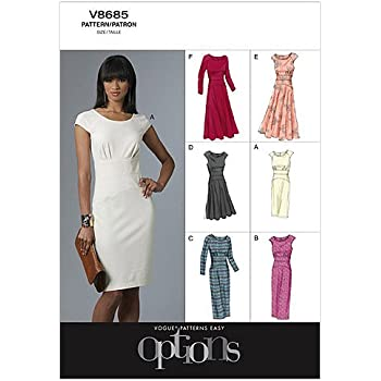 Vogue Patterns 9050 A5 Patrons de robes pour femme Multicolore Tailles 34 à  42 The McCall ... b77778cbb531