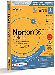 NEW Norton 360 Deluxe 2020   3 Devices   Internet Security, Antivirus and VPN   Hacking, Data Theft Protection