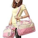 Sealive 5 Pcs/1 Set Baby Diaper Tote Bag Kids Pad Nappy Changing Shoulder Bottle Handbag Backpack Travel Shopping
