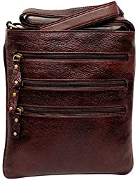 "Stylish 11"" Inch Genuine Leather Small Messenger Office Bag Cash Side Sling Bag By Widnes"