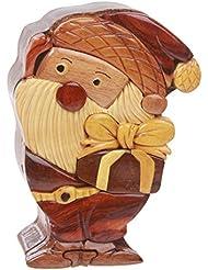 Beltiscool adulto forma de Papá Noel Diseño de Papá Noel secreto joyas caja de Puzzle de madera de un tamaño Natural