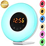 Sunrise Alarm Clock, Touch Control Yoleo Wake up Light Alarm Clock with Sunrise Simulation Sunset , Bedside Colorful Bed Night Mood Light LED Lamp with Snooze Function, 6 Nature Sounds, FM Radio