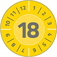 Avery Zweckform 6942 Test Badges 80 Labels with Year 2018, Diameter 30 mm x 10 Sheets, Yellow - ukpricecomparsion.eu