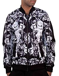 Rocawear Mens Boys Myth Bomber Jacket Varsity College Hip Hop Money Is Time