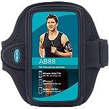 Tunebelt AB88 Laufsport Fitness Einstellbare Armband für Samsung Galaxy S4, S5, Samsung Galaxy Note und Note II - Black