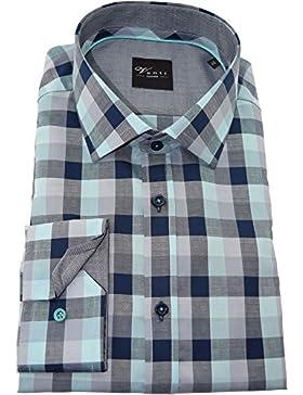 Venti Herrenhemd grünes Karohemd langarm Kent Kragen ohne Tasche Kollektion Size 39
