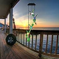 Carillón viento LED Solar cambiante color móvil de viento, Seilent ilent LED de seis colores de luz solar para la decoración de patio jardín fiesta de dormitorio
