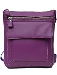 Leather Junction Unisex Purple Sling Bag
