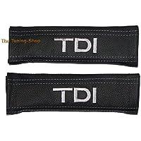 2x cintura Covers Pads Spalla Nero in Pelle Grigio TDI Edizione (Mazda 6 Oem Sostituzione)