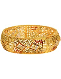 Aabhu Gold Plated Enamel Style Gold Plated Bangle Kada Set Jewellery For Women And Girl - B077Z7V3YL